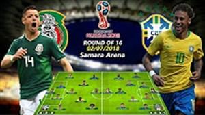 ترکیب احتمالی بازیکنان برزیل - مکزیک در بازی امشب
