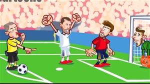 انیمیشن طنز بازی اسپانیا و روسیه