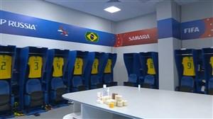 ورود دو تیم برزیل-مکزیک به ورزشگاه سامارا