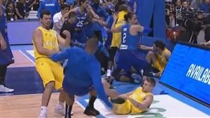 درگیری وحشتناک در بازی بسکتبال استرالیا-فیلیپین