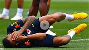 تمرین بازیکنان تیم ملی برزیل پیش از دیدار با بلژیک