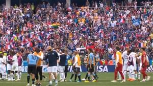 نگاهی به بازی اروگوئه - فرانسه همراه با کنفراس خبری