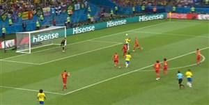 گل اول برزیل به بلژیک (آگوستو)