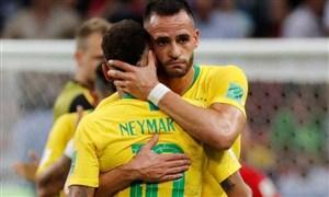 بازیکنان برزیل بعد از خوردن گل اول، دستپاچه شدند