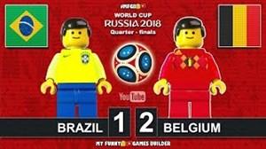 شبیهسازی لگو دیدار برزیل-بلژیک (جامجهانی 2018)