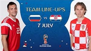 شماتیک ترکیب دو تیم روسیه - کرواسی