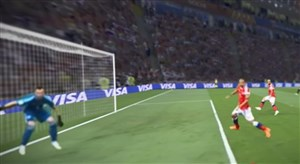 زاویه دید مانژوکیچ روی گل اول کرواسی به روسیه
