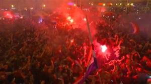 خوشحالی هواداران کرواسی پس از صعود به نیمه نهایی