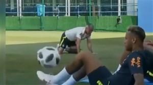 حرکات تکنیکی بازیکنان جام جهانی در تمرینات