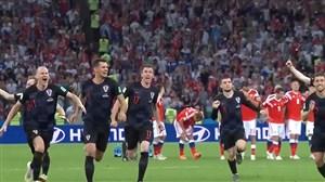 لحظات حساس روسها و کرواتها در مرحله یک چهارم جام جهانی 2018