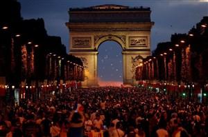 شادی مردم فرانسه پس از صعود به فینال