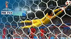 بهترین سیو بازی شب گذشته بلژیک - فرانسه