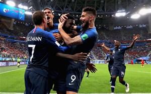 فرانسه اولین فینالیست جام جهانی 2018 روسیه