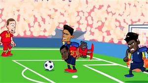 انیمیشن طنز از بازی فرانسه - بلژیک