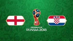خلاصه بازی کرواسی 2 - انگلیس 1 (نیمهنهایی جام جهانی روسیه)