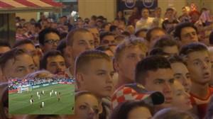 لحظه گل مانژوکیچ در کنار هواداران کرواسی