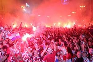 شادی مردم کرواسی پس از صعود به فینال
