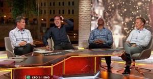 درگیری لفظی در تلویزیون بعد از حذف انگلیس!