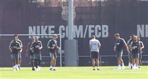تمرین امروز تیم بارسلونا (21-04-97)