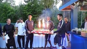 مراسم جشن تولد مربی دروازه بان های تیم ملی فرانسه