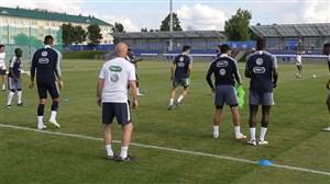 تمرینات امروز تیم ملی فرانسه برای فینال جام جهانی 2018