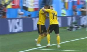 گل دوم بلژیک به انگلیس ( ادن هازارد)