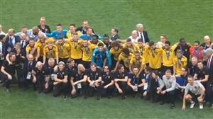 اهدای مدال برنز به تیم ملی بلژیک (جام جهانی روسیه)