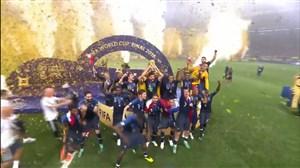 جشن قهرمانی تیم ملی فرانسه(جام جهانی 2018)
