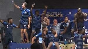 شوخی و هجوم چندباره بازیکنان فرانسه به کنفرانس دشان