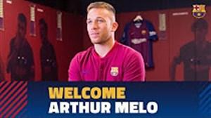 کلیپ خوش آمد گویی باشگاه بارسلونا به آرتور ملو