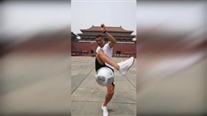 حرکات نمایشی کریستیانو رونالدو در شهر پکن