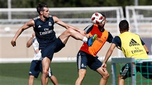 آخرین تمرین تیم رئال مادرید با حضور گرت بیل