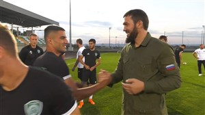 خوشوبش رئیس باشگاه احمد گروژنی با میلاد محمدی