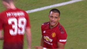 گل اول منچستریونایتد به رئال مادرید (سانچز)