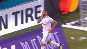 گل اول رئال مادرید به منچستریونایتد (بنزما)
