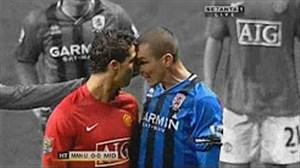 درگیریهای شدید رونالدو در زمین فوتبال