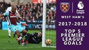5 گل برتر وستهام در فصل 2017/18 لیگ جزیره