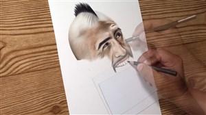 نقاشی جالب از چهره آرتورو ویدال