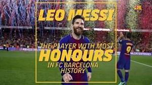 مسی؛ پرافتخار ترین بازیکن تاریخ بارسلونا