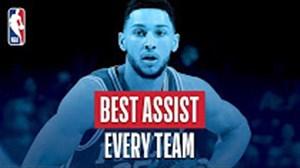 60 پاس گل برتر لیگ بسکتبال NBA در فصل 18-2017