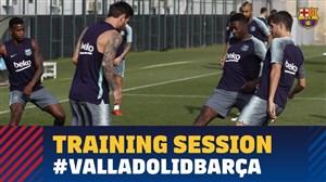 تمرینات بارسلونا برای رویارویی با رئال وایادولید