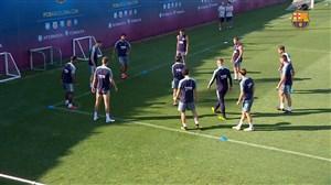 تمرینات امروز بازیکنان بارسلونا (30-05-97)