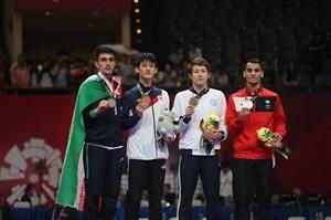 مراسم اهدای مدال نقره امیرمحمد بخشی در تکواندو