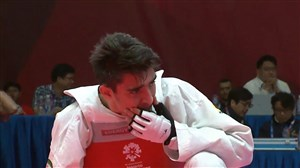 شکست امیرمحمد بخشی مقابل کرهجنوبی در فینال تکواندو