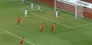 گل اول کره جنوبی به تیم امید ایران (هوانگ جو)