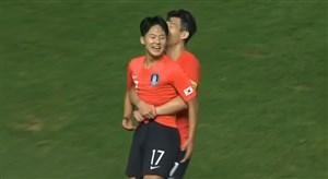 گل دوم کره جنوبی به تیم امید ایران (لی سونگ وو)