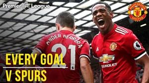 51 گل منچستر یونایتد در مقابل تاتنهام در الدترافورد