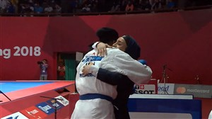 کسب مدال برنز +68 کاراته  توسط حمیده عباسعلی