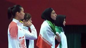 اهدای مدال برنز وزن 68کیلوگرم به حمیده عباسعلی