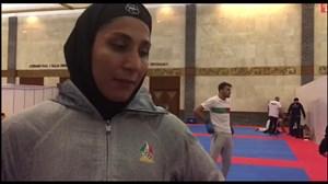 مصاحبه با حمیده عباسعلى پس از کسب مدال برنز